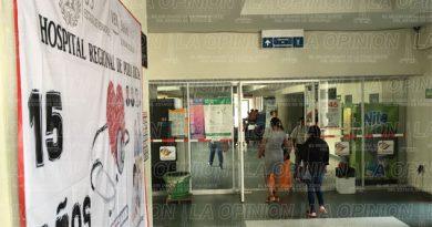 Hospital Regional carece de especialistas en ginecología y traumatología