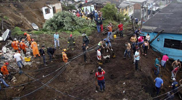 Más de 20 heridos y al rededor de 11 muertos por lluvias Colombia