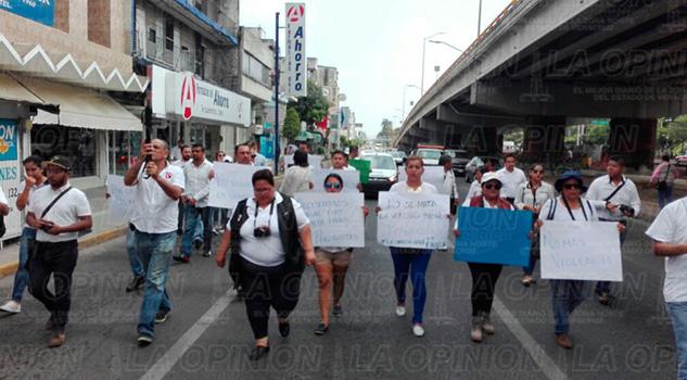 Manifestación Poza Rica Periodistas Armando Arrieta