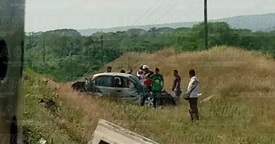 Muere Prensado Automóvil Vega de Alatorre