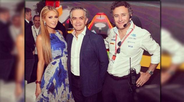 Paris Hilton comparte foto con Miguel Ángel Mancera