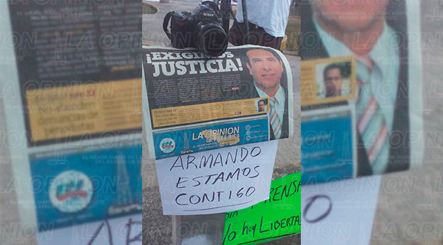 Periodístas Álamo Cerro Azul Manifestación