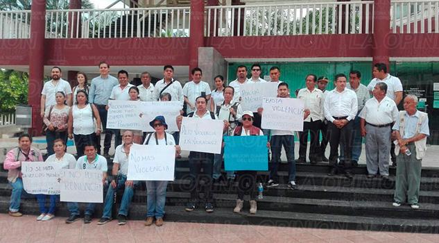 Poza Rica Armando Arrieta Manifestación Periodistas