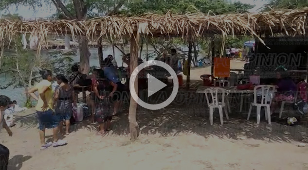 VIDEO: Repleto de turistas el río Cazones