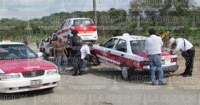 Tiemblan taxistas; refuerzan operativos en Zona Norte