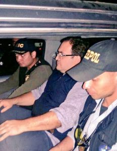 Detención Javier Duarte PGR Guatemala