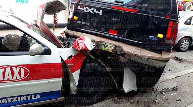 Aparatoso Accidente Ebrio Taxista