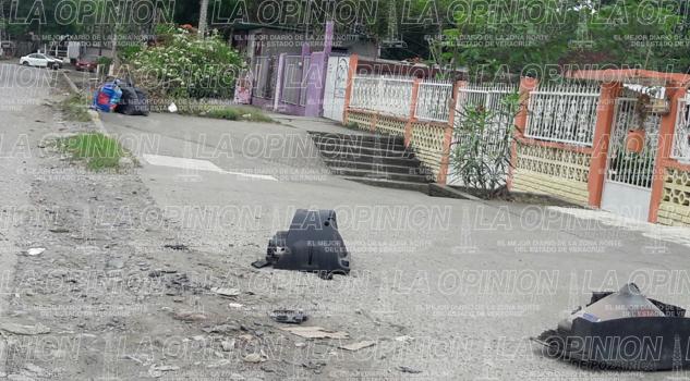 Basura en la calle 16 de septiembre