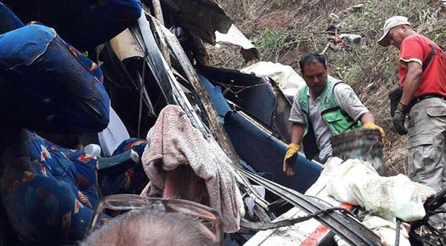 Confirman 17 muertos y 30 lesionados tras accidente en la Sierra Madre de Chiapas