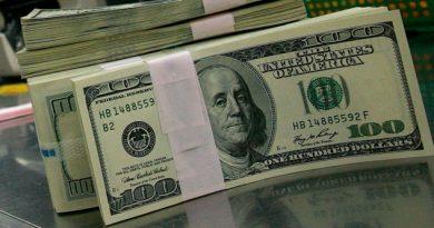 Dólar por debajo de los 19 pesos