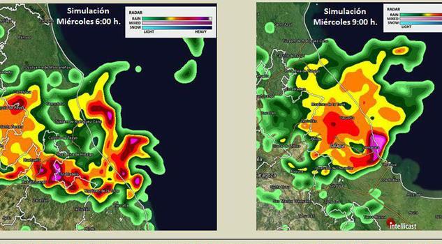 Fuerte tormenta eléctrica en toda la región