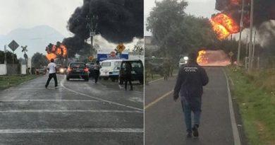 Incendio en la Puebla-Córdoba por toma clandestina en ductos