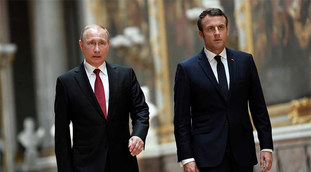 Macron advirtió ante Putin que Francia responderá ante uso de armas químicas en Siria