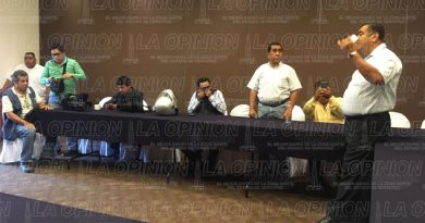 Por las condiciones climatologías Héctor Yunes suspendió su visita a Poza Rica