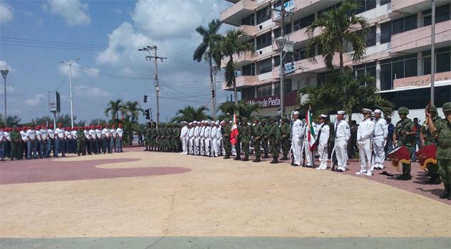 Protesta de Bandera a soldados y marineros del Servicio Militar Nacional