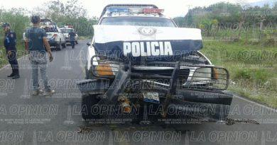 Se accidentan policías estatales; 3 lesionados