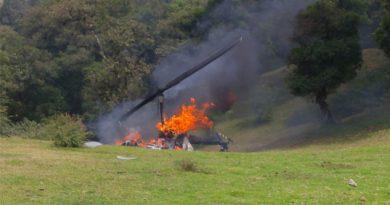 Se desploma helicóptero que trasportaba al dirigente del Verde Ecologista