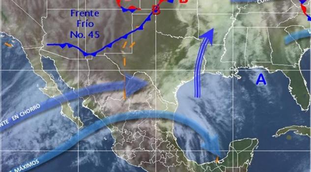 Vientos de hasta 107 kilómetros por frente frío 45