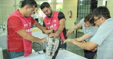 Abrirán 161 paquetes electorales