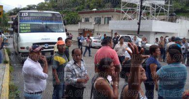 Bloqueo en la avenida Francisco I Madero, Papantla