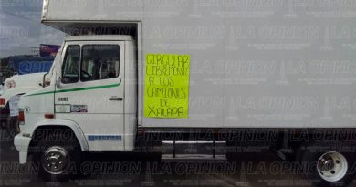 Camioneros xalapeños se unen a manifestación nacional