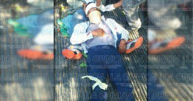 Campesino lesionado tras derrapar con su moto