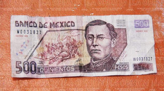 Cuidado con billetes falsos de 500 pesos