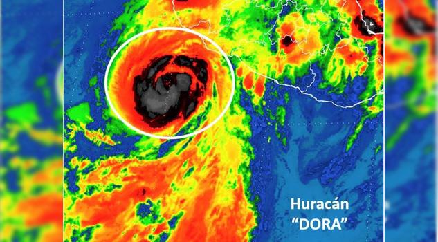 """""""Dora"""" se convierte en huracán categoría 1"""