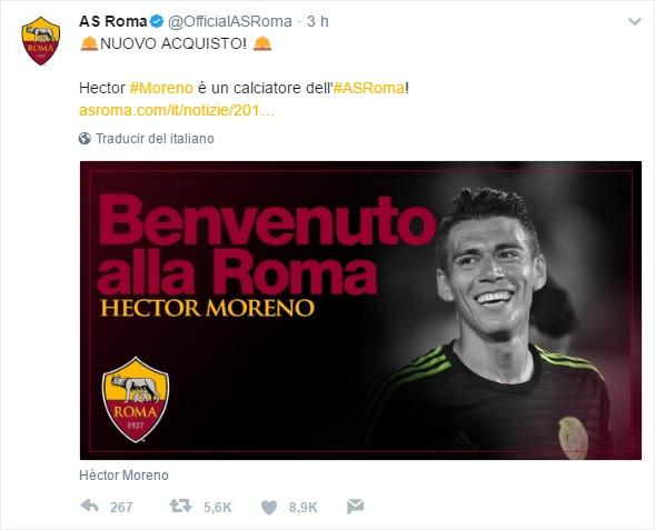 Héctor Moreno PSV Roma México