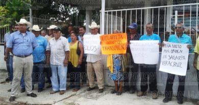 Manifestación de ejidatarios en la Sagarpa