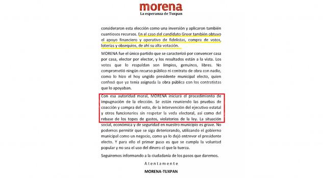 Morena exhibió a dos candidatos