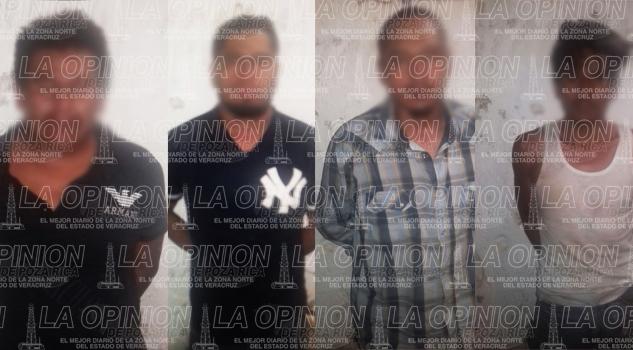 Policía captura a cuatro ladrones