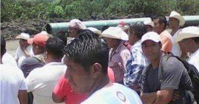 Protestan contra gasoducto