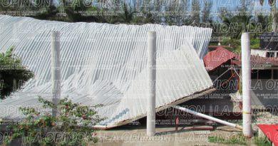 Se desploma domo de Secundaria Técnica en Tuxpan