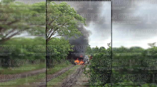 Se incendia camioneta cargada de limón