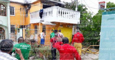 Se incendia casa de Mireya Domínguez, en El Vergel