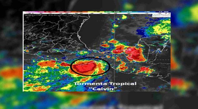 Tormenta tropical 'Calvin' amenaza a Oaxaca