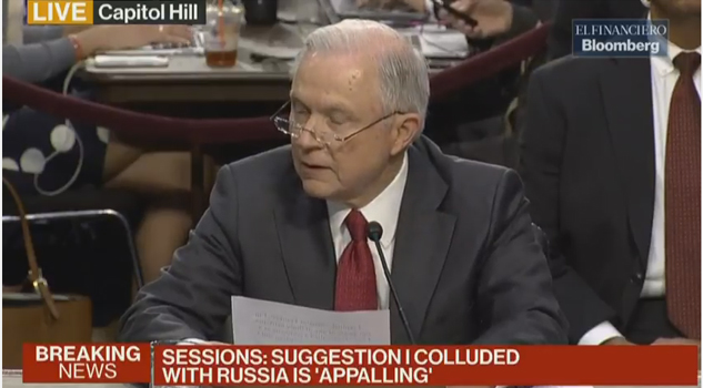Audiencia del fiscal general Jeff Sessions