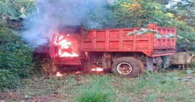 ¡Arde un camión!