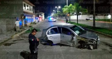 Auto Portón Tuxpan Destroza