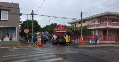 Cierre vial por reparación de socavón en Veracruz
