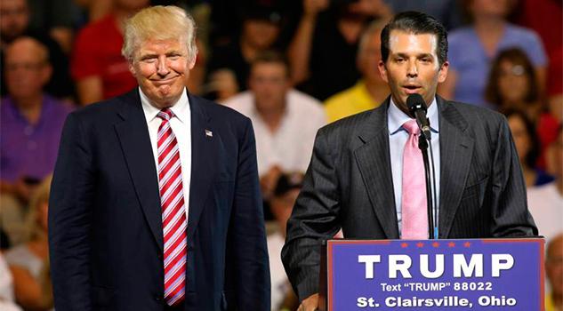 El hijo de Trump se reunió en las elecciones con una abogada rusa que le ofreció información contra Clinton