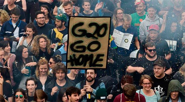 Fuertes protestas en el G20 en Alemania