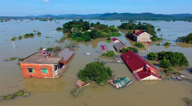 Inundaciones en China arrasan con todo a su paso