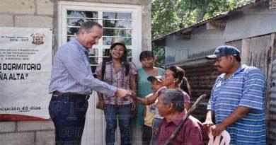 Mejoran viviendas de familias rurales