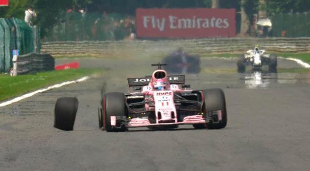 Accidente Checo Pérez GP Bélgica