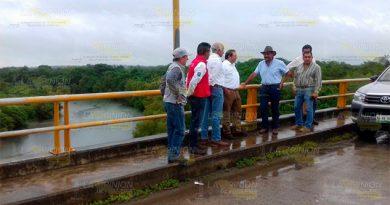 Alcalde y CONAGUA monitorean comportamiento de afluentes