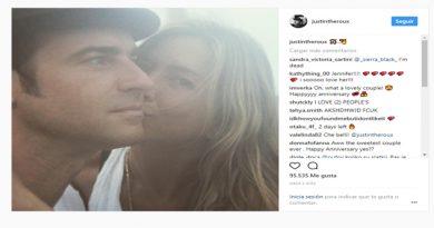 Así celebró Justin Theroux su aniversario de bodas con Jennifer Aniston