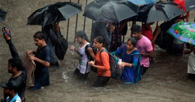 Fuertes lluvias en la India dejan al menos cinco personas muertas