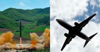Los misiles de Corea del Norte podrían poner en riesgo los vuelos de pasajeros